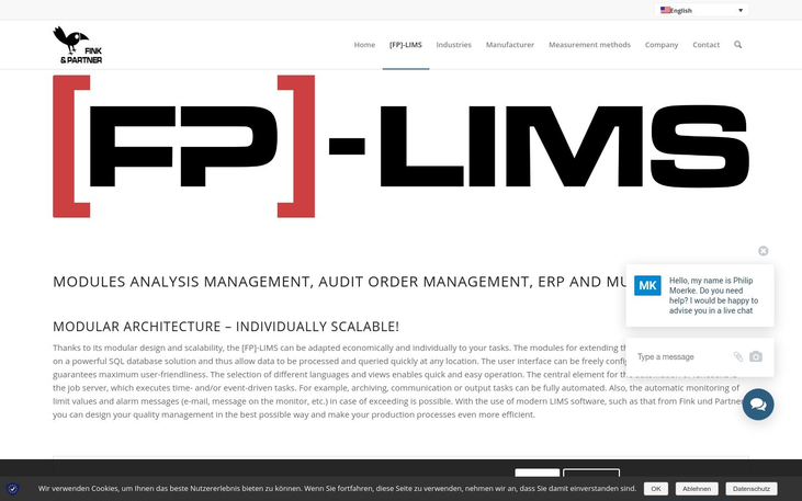 [FP]-LIMS – LIMS SOFTWARE by Fink & Partner